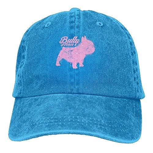 Preisvergleich Produktbild Wfispiy Frenchie Mom Dog Denim Hat Adjustable Mens Vintage Baseball Hats X1101