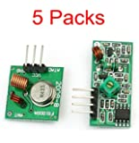 iHaosapce 5 Packs 433MHz RF Wireless Transmitter and Receiver Module Kits For Arduino Raspberry Pi …