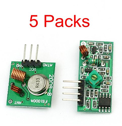 Amazon.co.uk - 433Mhz RF transmitter and receiver kit (5 pieces)
