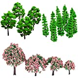 Segolike Mixed 24Pcs Mixed Trees Model DIY Train Railway Diorama Scenery Layout New