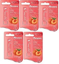 Himalaya Herbal Peach Shine Lip care 4.5g (pack of 5)