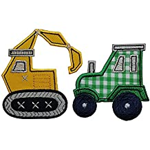 Excavadoras 7X8Cm 7X7Cm Tractor Lindo tractor amarillo, un sello atractivo para decorar e incentivar la