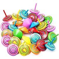 MOOKLIN Peonzas de Madera de Colores 30 Piezas Suministros Fiesta Decoraciones para Niños, Niñas, Comuniones, Fiestas de Cumpleaños