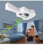 JN Musica da Soffitto a Forma Di Chitarra Led Illuminazione a Risparmio Energetico a Led Illuminazione in Ferro Battuto Smart Bluetooth Cell Phone Camera da Letto per Bambini,Bianca,65 * 30cm