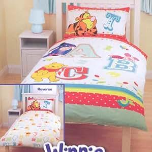 Kids/Childrens Girls Disney Winnie The Pooh Duvet/Quilt Cover Bedding Set (Single Bed) (White)