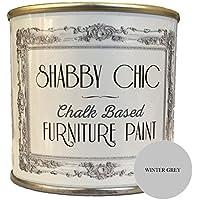 Pintura de tiza para muebles para crear un estilo envejecido, 250 ml, color gris