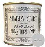 Shabby Chic Furniture Paint Winter Grey Pintura para muebles efecto envejecido, color gris 1 l