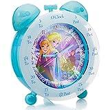 Frozen FROZ1 - Reloj de mesa para enseñar a los niños la hora