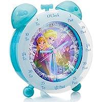 Disney Frozen FROZ1 - Reloj de mesa para enseñar a los niños la hora