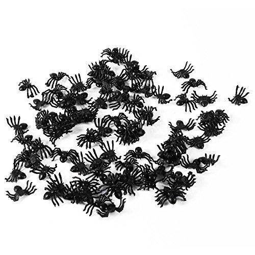 Set 50x Spinne Spinnen Künstliche Künstliche Scherz Kunststoff Karneval Halloween Spiel