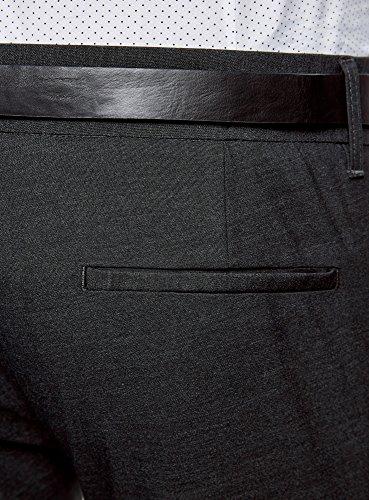 oodji Ultra Herren Leichte Hose mit Gürtel Grau (2500N)