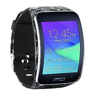 Fit-Power Ersatzarmband für Samsung Galaxy Gear S R750Smart Watch, verstellbare Größe, kabellos, Smartwatch, Zubehör, Band, Gurt, mit sicherem Verschluss