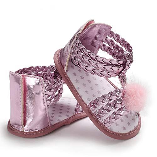 Mädchen Sandalen, Neugeborenes Baby Weiche Sohle Haar Ball Prinzessin Schuhe, Infant Pre Walker Schuhe, Krippe Schuhe -
