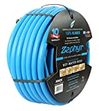"Zephyr Next-gen Garden Hose (1/2"" x 100ft, Ultra-Light Flexible Rubber, Brass Fittings)"