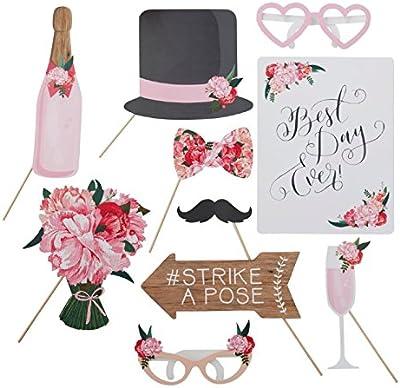 Accesorios para foto de boda, accesorios florales para fotos de boda, 10 piezas