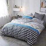 XIEPEI 2019 - Juego de sábanas de algodón de Cuatro Piezas, Estilo nórdico, 4 Unidades, 1,5 x 2 m, Funda de edredón: 2,0 x 2,3 m, 1,5 x 2,0 m