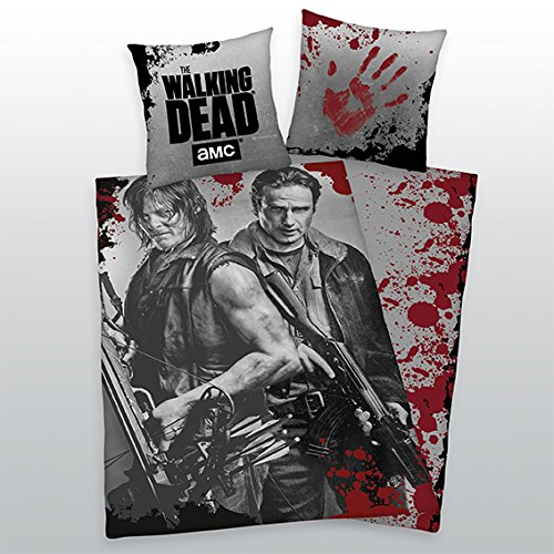 Bettwäsche Herding glatt The Walking Dead Daryl + Rick Armbrust 135 x 200 cm NEU - All-In-One-Outlet-24 -