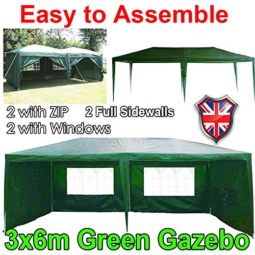3x6M Waterproof Heavy Duty White Marquee Party Tent Wedding Tent Event  Shelter Metal Canopy Domain Carport Gazebo With Removable Sidewalls Perfect  for