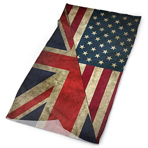 Jolly2T USA UK American British Flag Tube Bandanas Headwear Headband Magic Scarf Face Mask Neck Gaiter