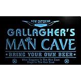pb1547-b Gallagher's Man Cave Cowboys Bar Neon Light Sign Barlicht Neonlicht Lichtwerbung