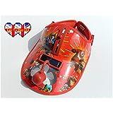 Funciona con energía solar gorra para niños con construido en ventilador y gafas de sol multicolor rosso talla única