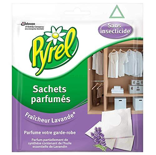 Pyrel parfum garde robe sans insecticides- Lot de 4 (4 x 24 = 96 sachets)
