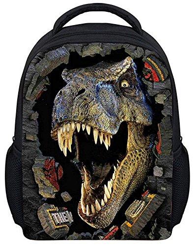 Kingwin 3d Dinosaure Sac à dos Sac à dos animaux Dessin animé Toile Sac d'école