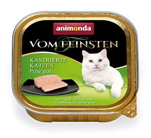 animonda Vom Feinsten Adult Katzenfutter, Nassfutter für ausgewachsene Katzen, kastrierte Katze Pute pur, 32 x 100 g