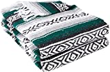 Best Yoga Direct Blankets - YogaDirect Deluxe Mexican Yoga Blanket,Dark Green Review