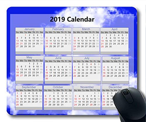 2019 Kalender-Mauspads, Silvester-Mauspad, Sternenhimmel-Malerei Gaming-Mauspad
