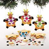 Baker Ross Kits de Boules de Noël Renne en étoile (Paquet de 6) - Loisirs créatifs de Noël pour Enfants...