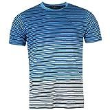 Pierre Cardin Herren 100% Baumwolle Kurz Hlsen C Streifen Dip Dye T Shirt -Klein-2XL, Blau/Weiss, XL