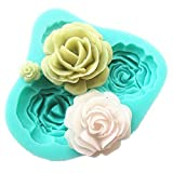 3D-Silikon-Form, Rose, Fondant, Kuchen, Backen, formbar, Dekoration