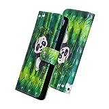 Abuenora Funda Libro Xiaomi Redmi Note 5 Carcasa Con Tapa Flip Case Antigolpes con Protector de Pantalla Cristal Templado Parachoques Cartera Billetera 3D PU Cuero Polipiel Suave - PandaPanda