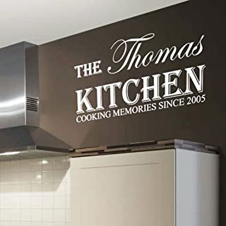 kitchen name Family is Worth Every Second Art Wall Quote Stickers Wall Decals