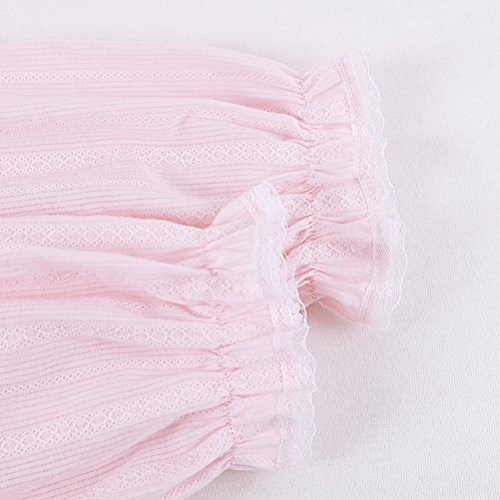Zhhlaixing Fashion Soft Pullover Pyjama Set Womens Long Sleeve Cotton Nightwear One Size Purple