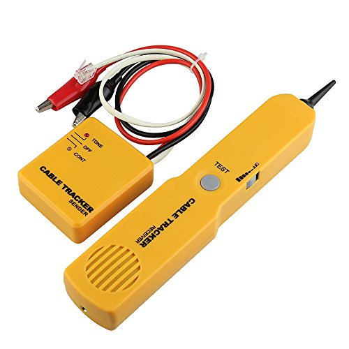 Preisvergleich Produktbild DAXGD Bewegliches RJ11 Netz-Telefon-Telefon-Kabel-Prüfvorrichtung Toner-Draht-Verfolger-Verfolger Diagnose Tone Line Finder