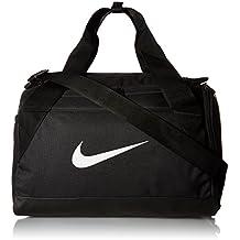 Nike Nk Brsla Xs Duff Bolsa de Deporte, Hombre, Negro (Black/Black/White), Talla Única