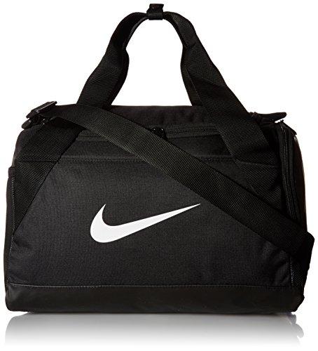 Nike Brasilia Sporttasche, Black/Black/White, 40.6 x 22.9 x 25.4 cm, 25 L (Trocken-grafik)