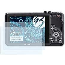 Bruni Sony DSC-HX9V Folie - 2 x glasklare Displayschutzfolie Schutzfolie für Sony DSC-HX9V