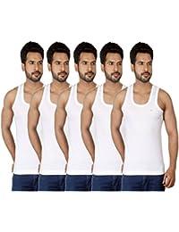 Amul Comfy Men's Cotton Seleeveless Vest Combo of 5