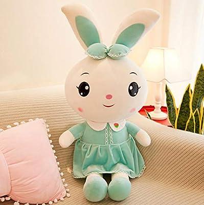 WHKJ Lindo Conejo muñeca de Dibujos Animados Mascota Conejo de Peluche de Juguete para niños Dormir Comodidad muñeca Siesta Almohada Suave sofá decoración cojín Creativo cumpleaños 45 cm de WHKJ