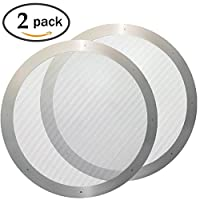 2 Amagabeli Home 304GLWP001 Ultra Fine Reusable Stainless Steel Mesh Aeropress Coffee Filter