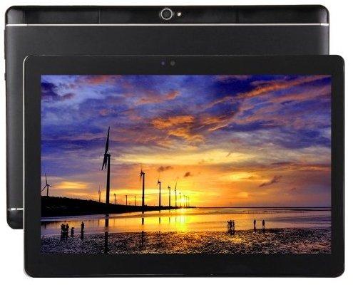 10.1 pouces Tablet PC Android 6.0 HD Résolution 2560 * 1600 2Go RAM 32Go ROM MTK6592 Octa core 2.0 GHZ 2.0MP + 8.0MP double caméra 4G réseau d'appel Double carte SIM Coquille métallique Noir