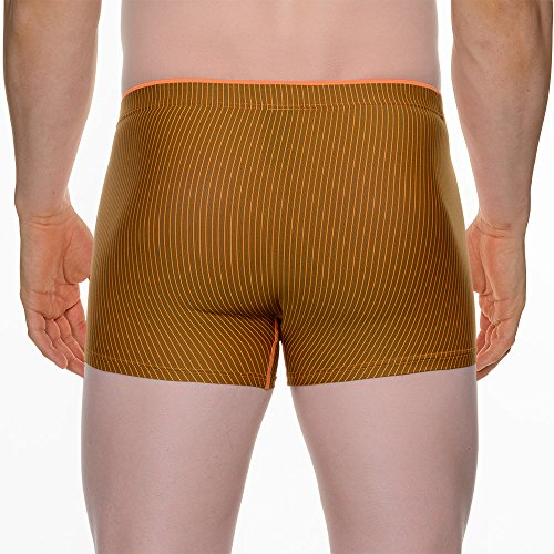 Bruno Banani Herren Short Neutron Orange (orange/schwarz stripes 1836)