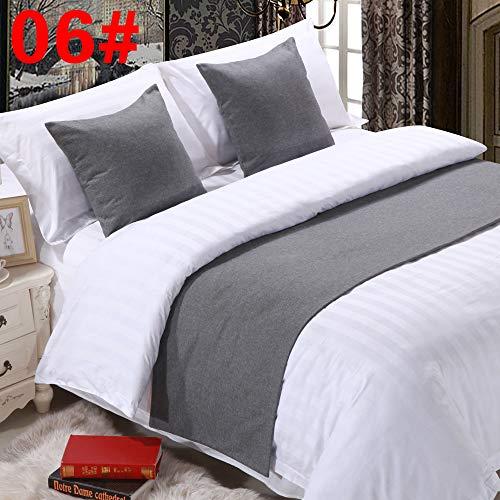 chal Bettwäsche Bettwäsche hochwertige Bettmatte Zierstreifen, beige weiß 06 grau, 1,5M Bett gewidmet 50x210cm ()