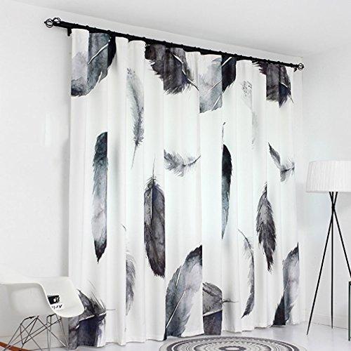 Amberzcy tenda, tipo moderno del gancio della camera da letto del salotto di stampa di ombreggiatura moderna moderna nordica (dimensioni : 300 * 270cm)