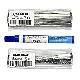 AIYIMA micro pannello solare cella solare saldatura Wire strip kit 20m 1.8x 0.16mm Tab Wire, 2m 5x 0.2mm Bus Wire, 1pezzi 951Flux Pen