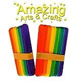 120groß Jumbo Farbige Holz Lutscher Lolly Craft Sticks