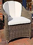 Destiny Sessel Malaga II Vintage Braun Geflechtsessel Polyrattan Gartensessel